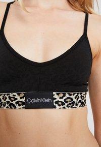Calvin Klein Underwear - ANIMAL MICRO UNLINED BRALETTE - Bustier - black - 4