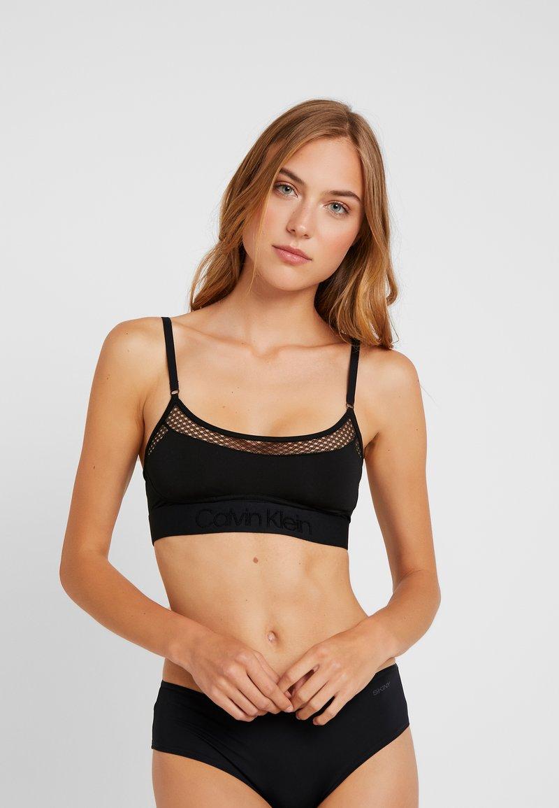 Calvin Klein Underwear - TONAL LOGO NEWNESS UNLINED BRALETTE - Bustier - black