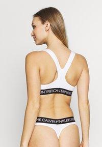Calvin Klein Underwear - 1981 BOLD UNLINED BRALETTE - Bustier - white - 3