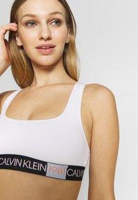 Calvin Klein Underwear - 1981 BOLD UNLINED BRALETTE - Bustier - white - 2