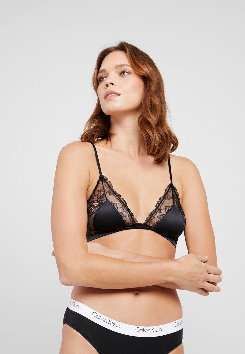 Calvin Klein Underwear - GARLAND UNLINED - Triangel-BH - black