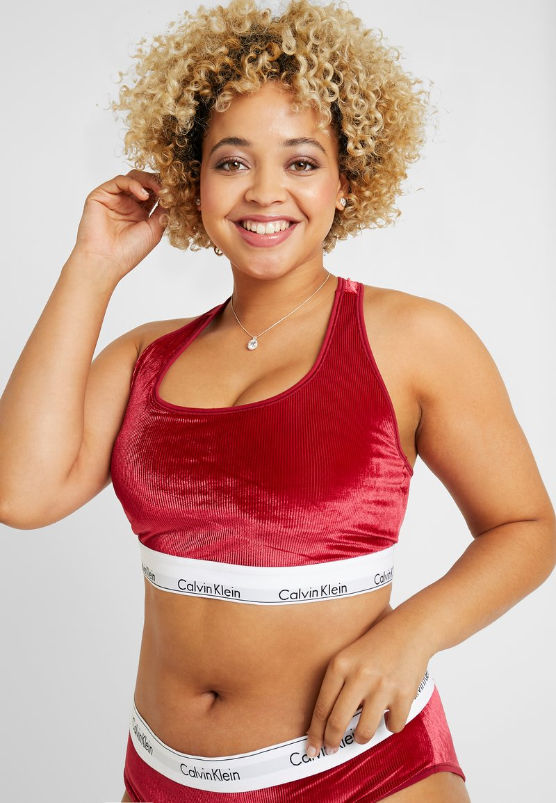 Calvin Klein Underwear - MODERN PLUS SIZE UNLINED BRALETTE - Bustier - raspberry jam