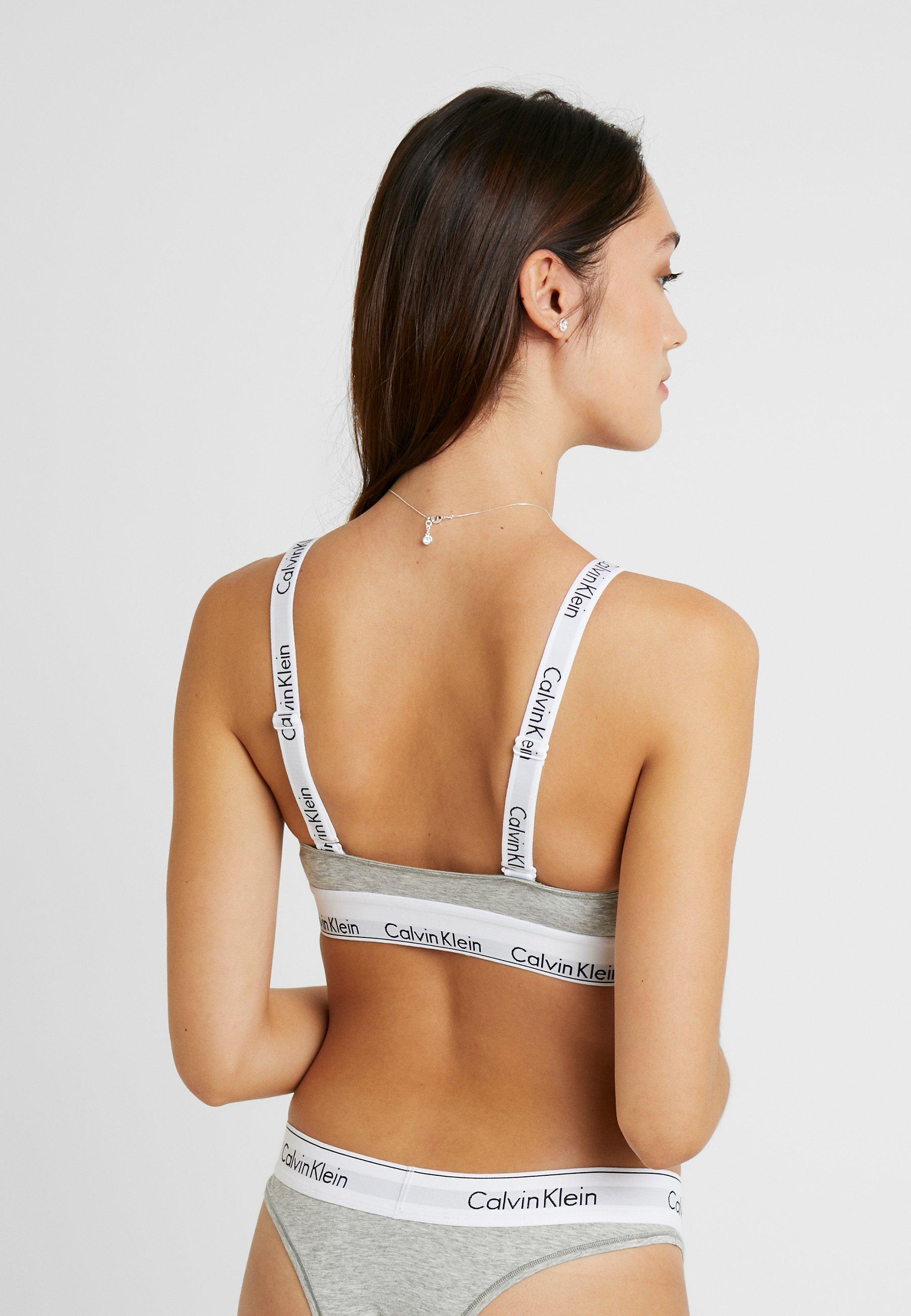 Calvin Klein Underwear Modern Branded Strap Triangle - Soutien-gorge Heather Grey