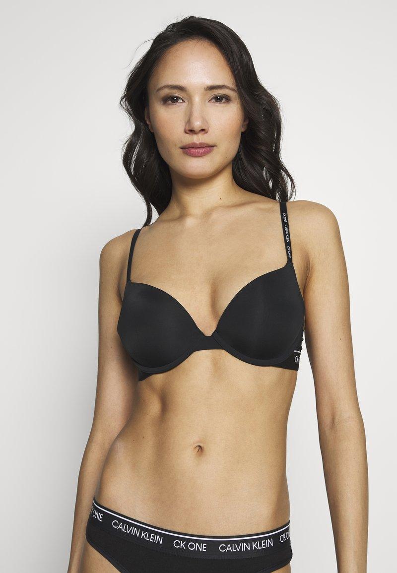 Calvin Klein Underwear - ONE MICRO PLUNGE - Sujetador sin tirantes/multiescote - black