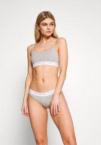 Calvin Klein Underwear - PRIDE CAPSULE UNLINED BRALETTE - Bustier - grey heather - 1