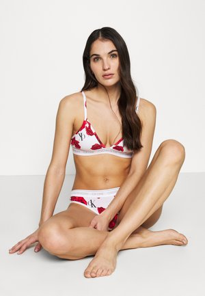 CK ONE COTTON UNLINED TRIANGLE - Triangle bra - white/red