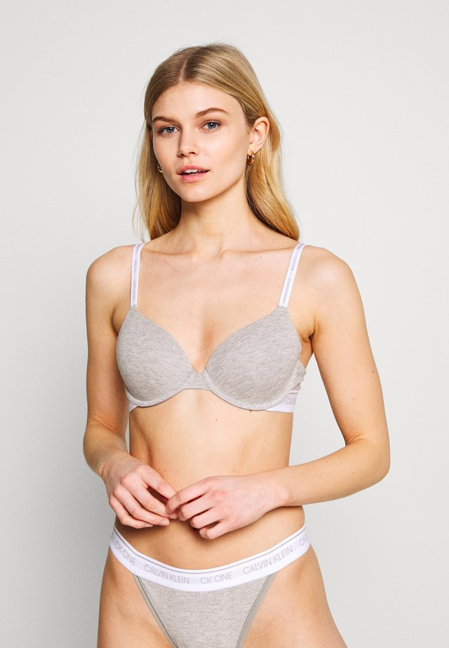ONE LIGHTLY LINED DEMI - Push up -rintaliivit - grey heather