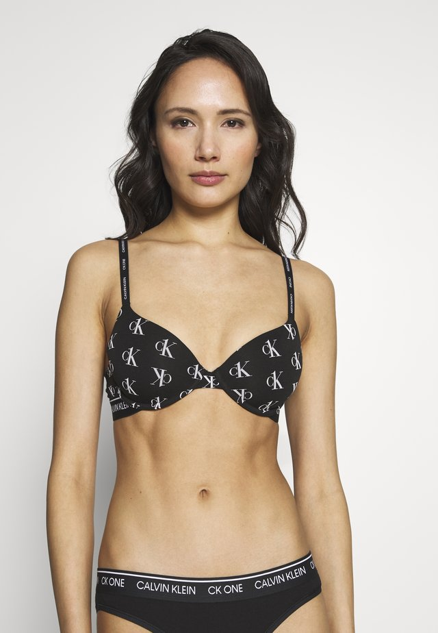 ONE LIGHTLY LINED DEMI - Push-up BH - black