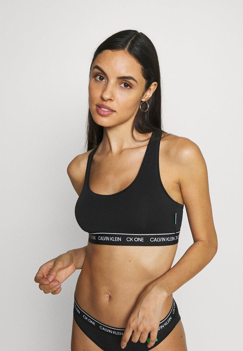 Calvin Klein Underwear - ONE RECYCLE UNLINED BRALETTE - Topp - black