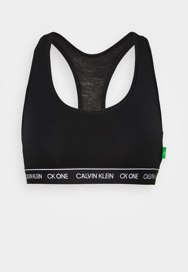 CK ONE RECYCLE UNLINED BRALETTE - Top - black