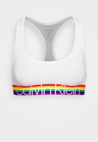 Calvin Klein Underwear - MODERN PRIDE UNLINED BRALETTE - Topp - white - 3