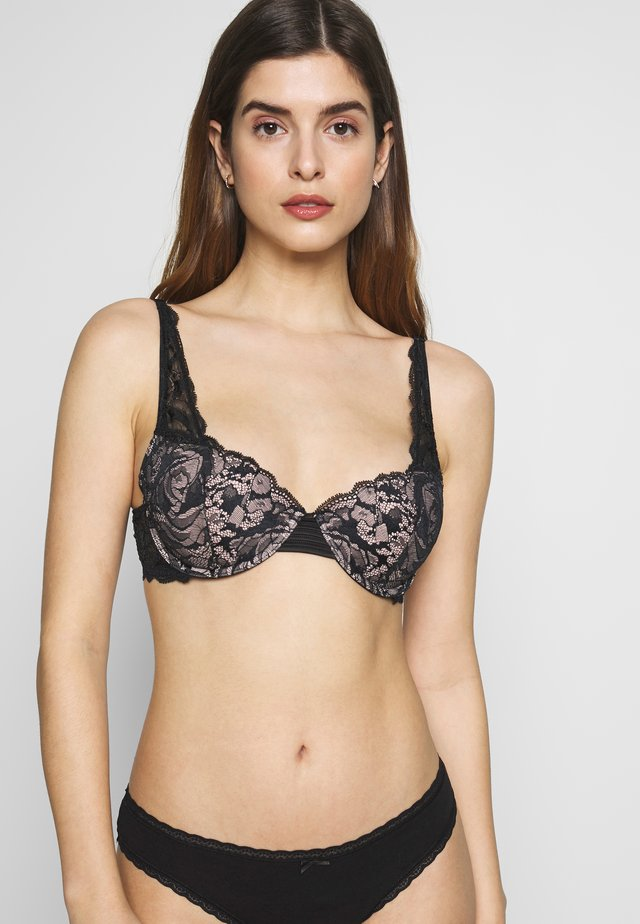 SPRING ROSE - Soutien-gorge push-up - black