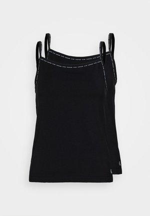 CAMISOLE 2 PACK - Hemd - black