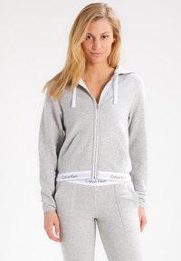 Calvin Klein Underwear - MODERN LOUNGE FULL ZIP HOODIE - Sudadera con cremallera - grey - 0