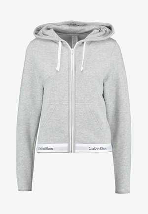 MODERN LOUNGE FULL ZIP HOODIE - Zip-up hoodie - grey