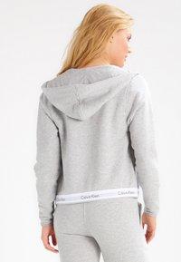 Calvin Klein Underwear - MODERN LOUNGE FULL ZIP HOODIE - Sudadera con cremallera - grey - 2