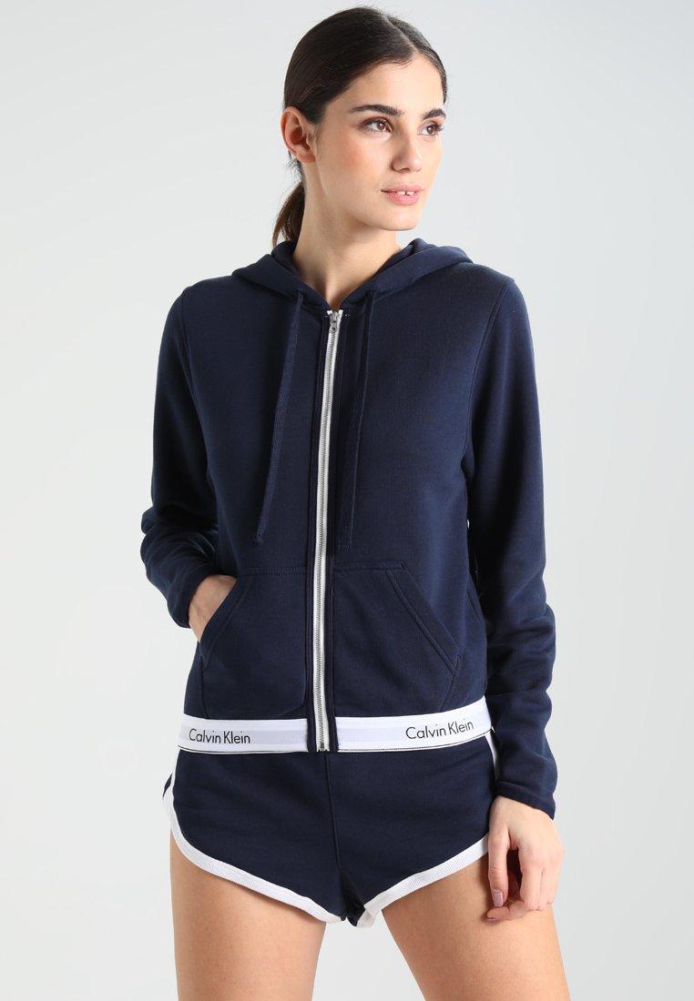 Calvin Klein Underwear - HOODIE FULL ZIP - Nattøj trøjer - blue