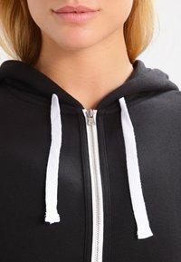 Calvin Klein Underwear - MODERN LOUNGE FULL ZIP HOODIE - Hoodie met rits - black - 3