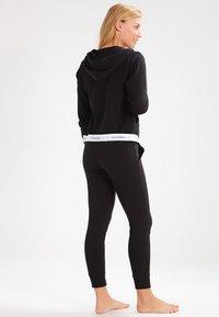 Calvin Klein Underwear - MODERN LOUNGE FULL ZIP HOODIE - Hoodie met rits - black - 2