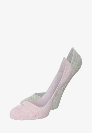 2 PACK - Trainer socks - faded pink heather/pale grey heather