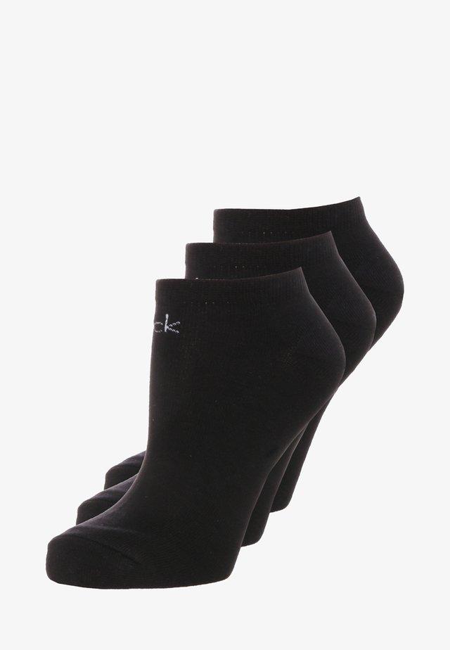 LOGO SNEAKER 3 PACK - Ponožky - black
