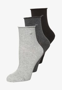 charcoal melange/grey melange/black