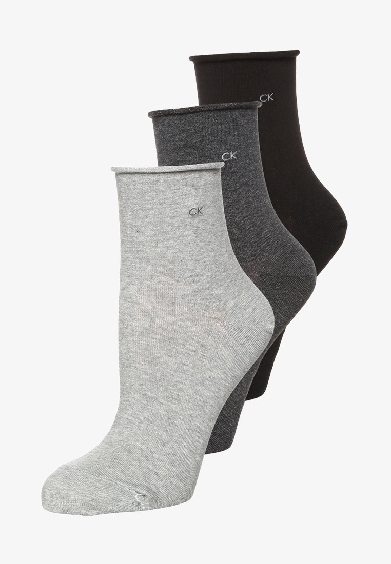 Calvin Klein Underwear - 3 PACK - Socks - charcoal melange/grey melange/black