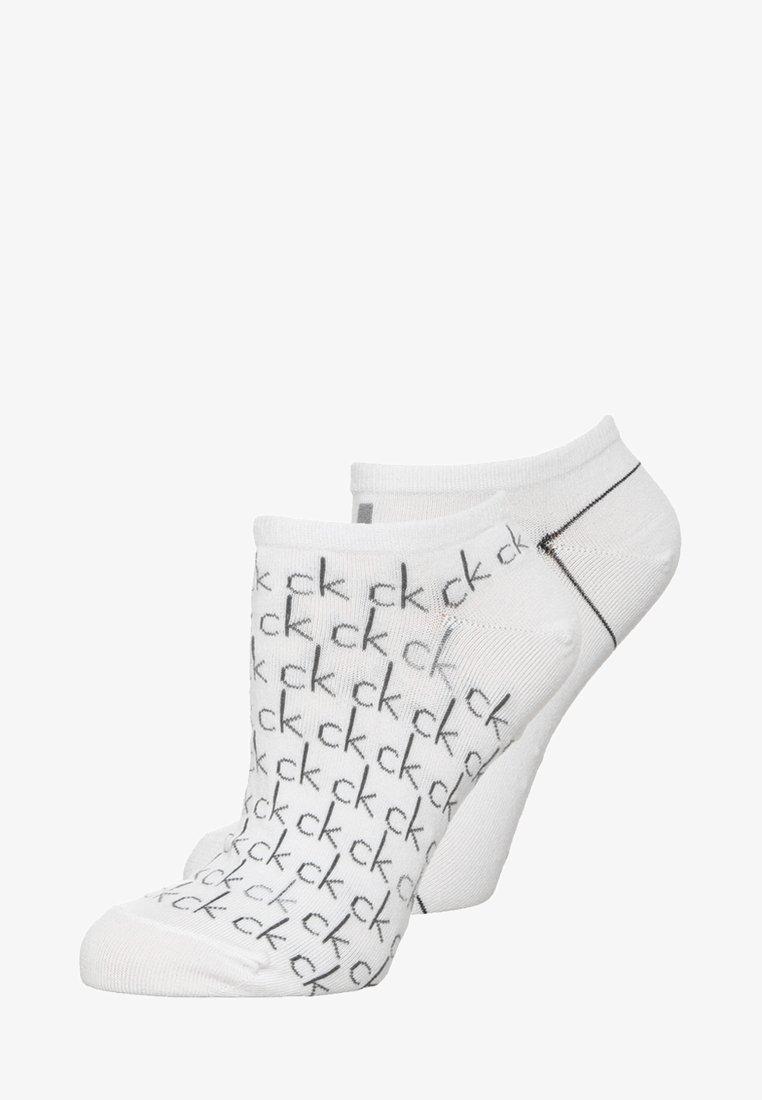 Calvin Klein Underwear - REPEAT LOGO SNEAKER 2 PACK - Socks - white