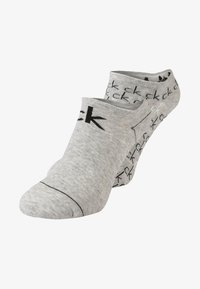 Calvin Klein Underwear - REPEAT LOGO SNEAKER 2 PACK - Socks - oxford - 0