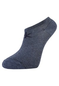 Calvin Klein Underwear - REPEAT LOGO SNEAKER 2 PACK - Socks - denim - 1
