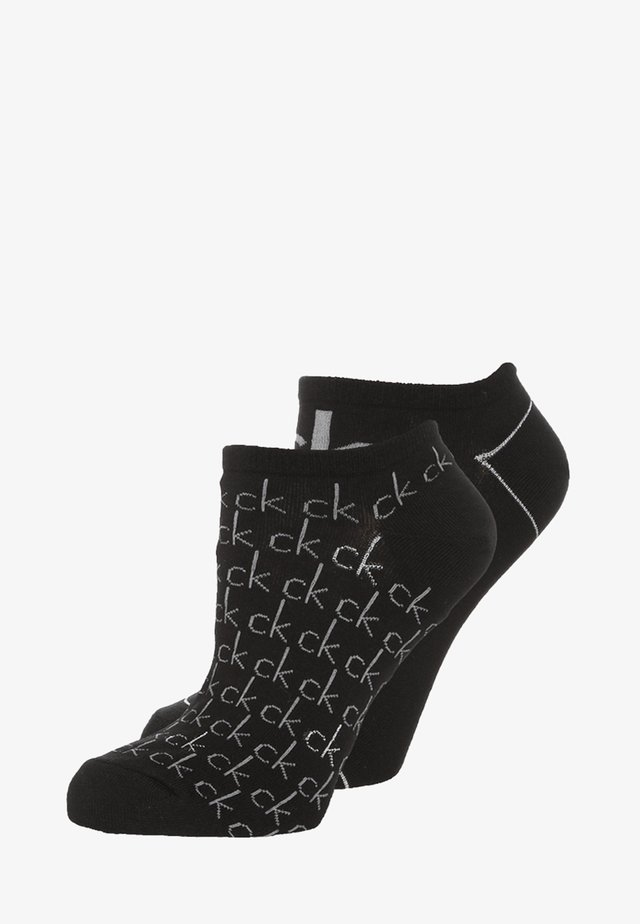 REPEAT LOGO SNEAKER 2 PACK - Ponožky - black