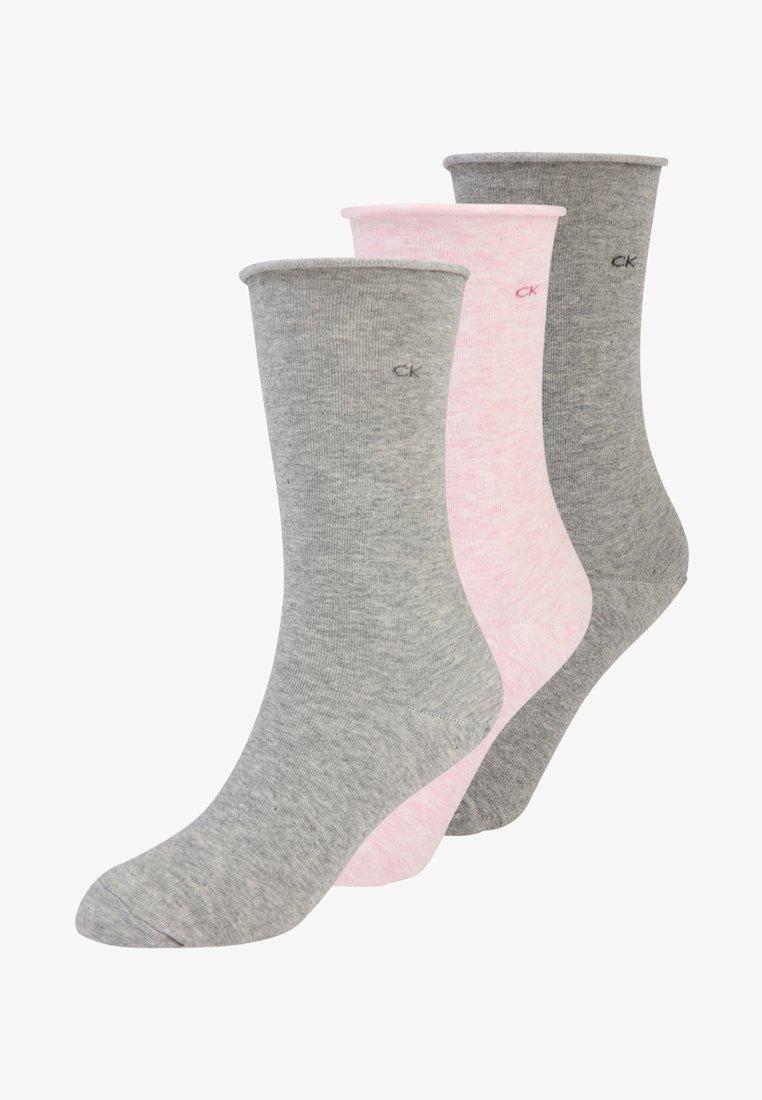Calvin Klein Underwear - EMMA 3 PACK - Strømper - pink grey