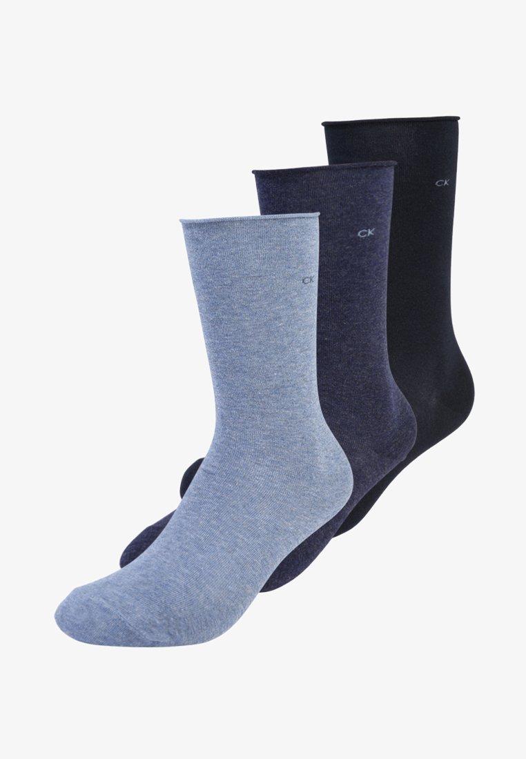 Calvin Klein Underwear - EMMA 3 PACK - Socks - denim navy