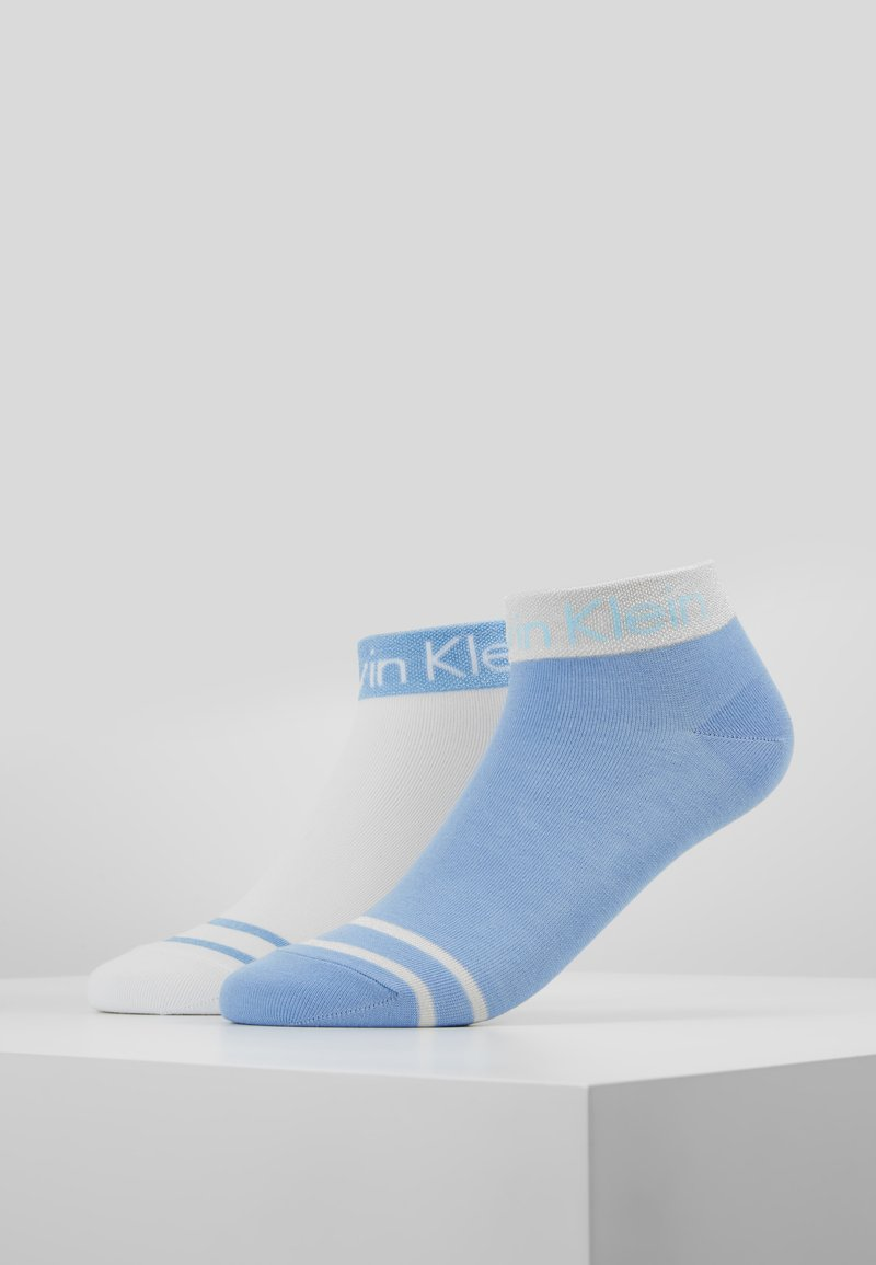 Calvin Klein Underwear - ZOEY ANKLET 2 PACK - Socks - blue/white