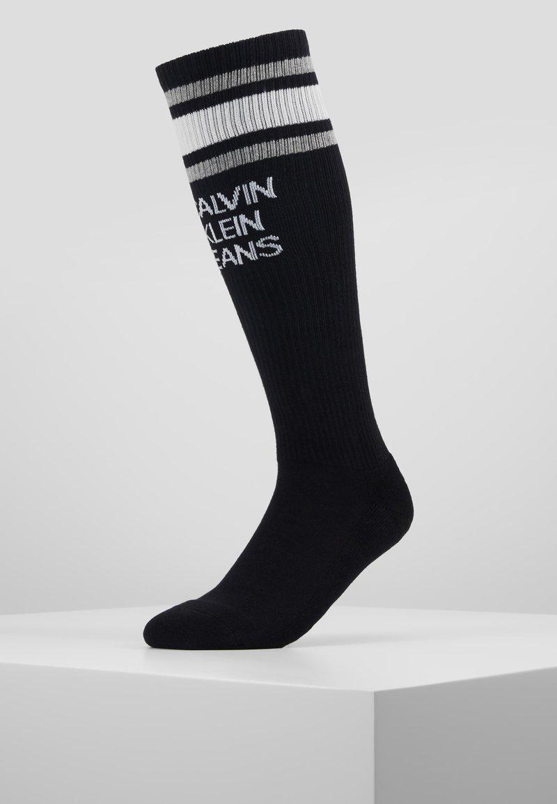 Calvin Klein Underwear - STRIPE LOGO KNEE HIGH - Knee high socks - black