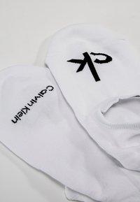 Calvin Klein Underwear - MODERN LOGO - Trainer socks - white - 2