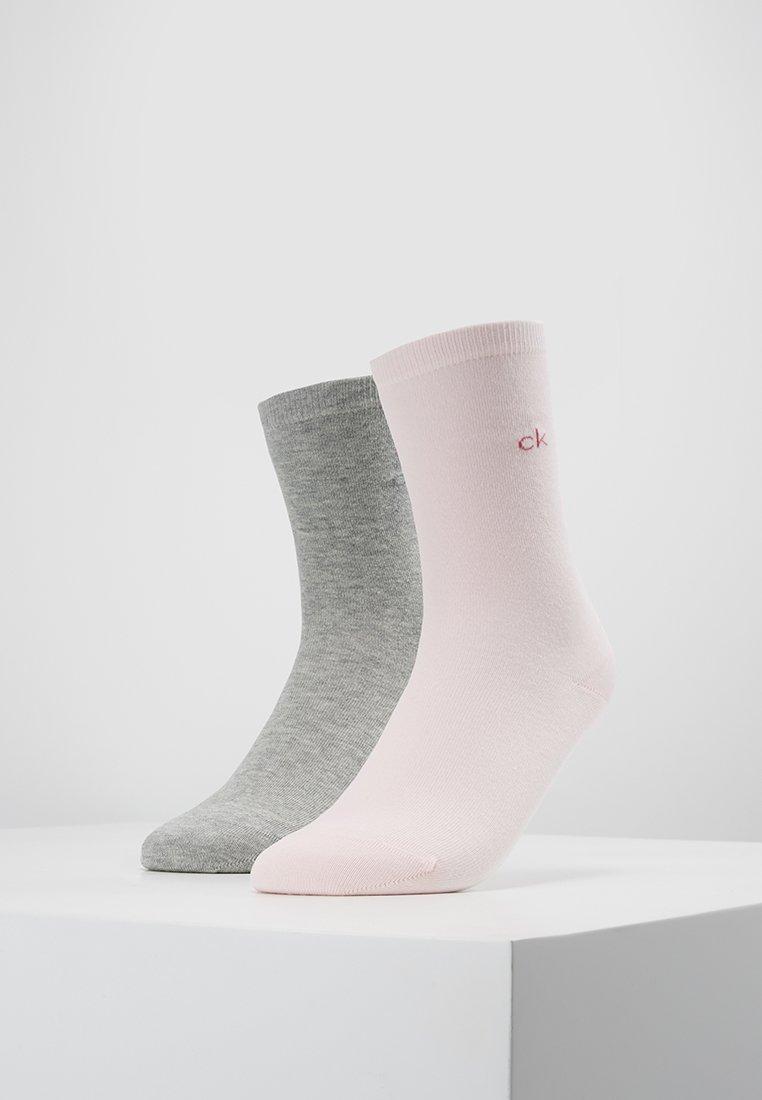 Calvin Klein Underwear - CREW  2 PACK  - Socks - soft pink/pale grey heather
