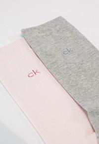 Calvin Klein Underwear - CREW  2 PACK  - Socks - soft pink/pale grey heather - 2