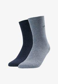 Calvin Klein Underwear - CREW  2 PACK  - Socks - stonewash heather/denim heather - 1