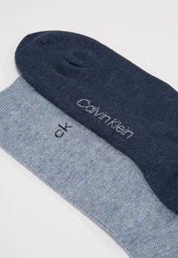 Calvin Klein Underwear - CREW  2 PACK  - Socks - stonewash heather/denim heather - 2