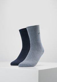 Calvin Klein Underwear - CREW  2 PACK  - Socks - stonewash heather/denim heather - 0