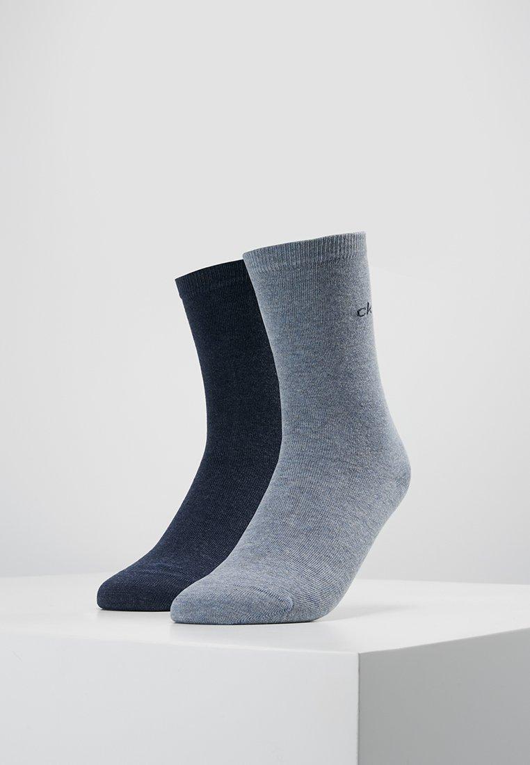 Calvin Klein Underwear - CREW  2 PACK  - Socks - stonewash heather/denim heather