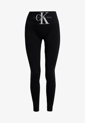LOGO HIGH WAIST - Pantaloni del pigiama - black