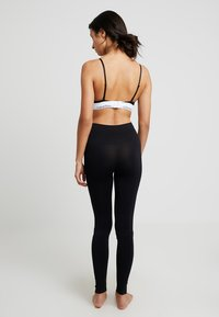 Calvin Klein Underwear - LOGO HIGH WAIST - Pyjamasbukse - black - 2
