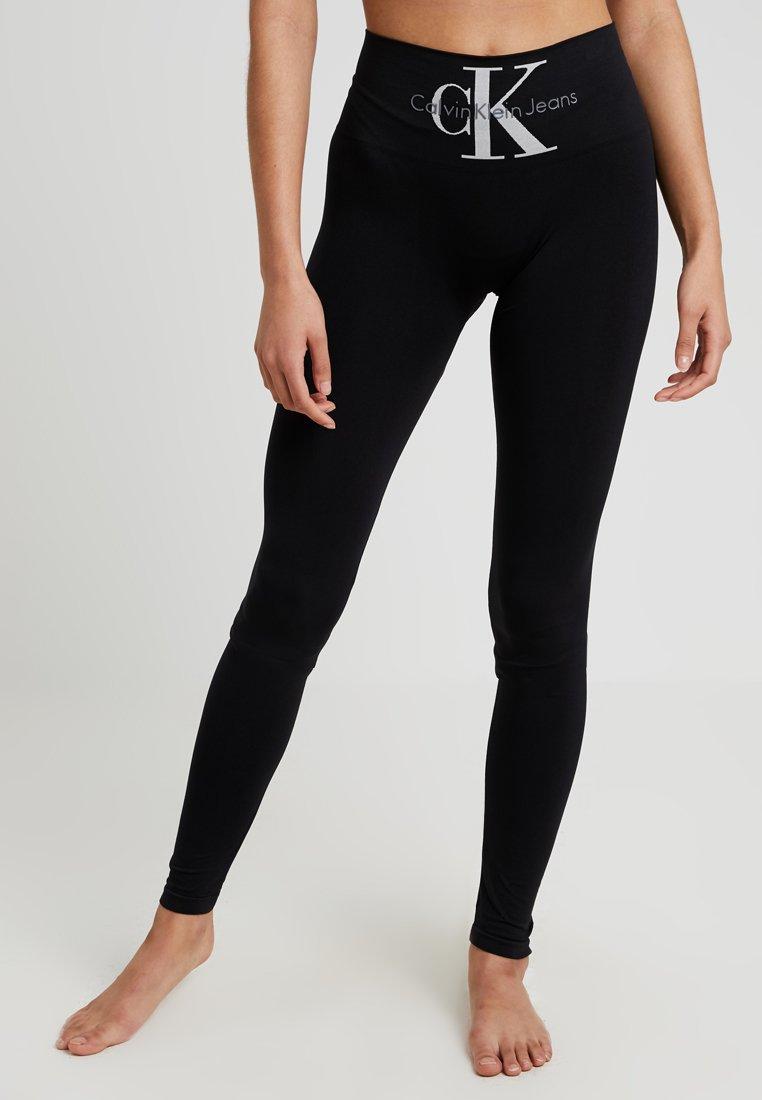 Calvin Klein Underwear - LOGO HIGH WAIST - Pyjamasbukse - black