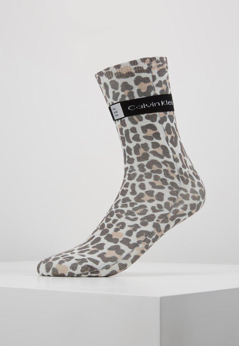 Calvin Klein Underwear - LEOPARD PRINT SPARKLE - Calcetines - black/ecru