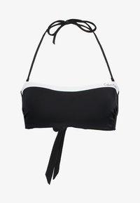Calvin Klein Swimwear - NOS LOGO BANDEAU-RP - Bikinitoppe - black - 4