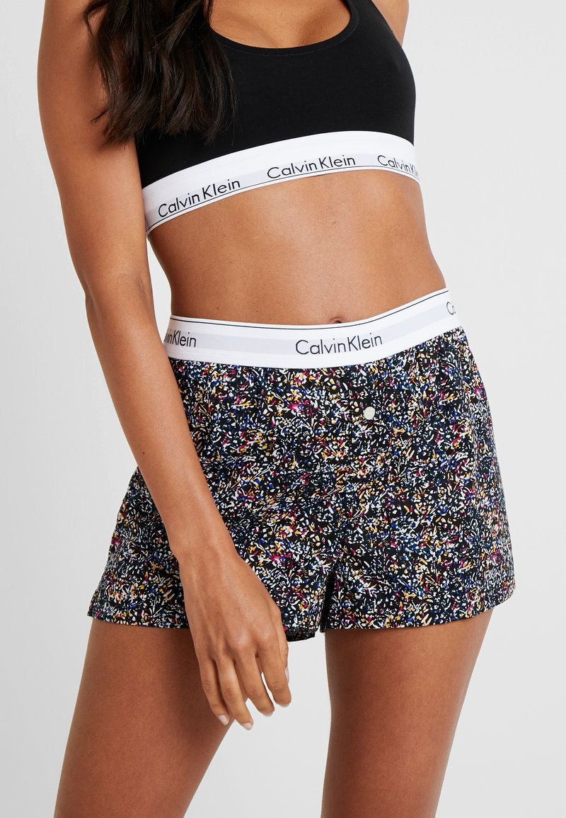 Calvin Klein Underwear - SLEEP SHORT - Nachtwäsche Hose - black/multi-coloured