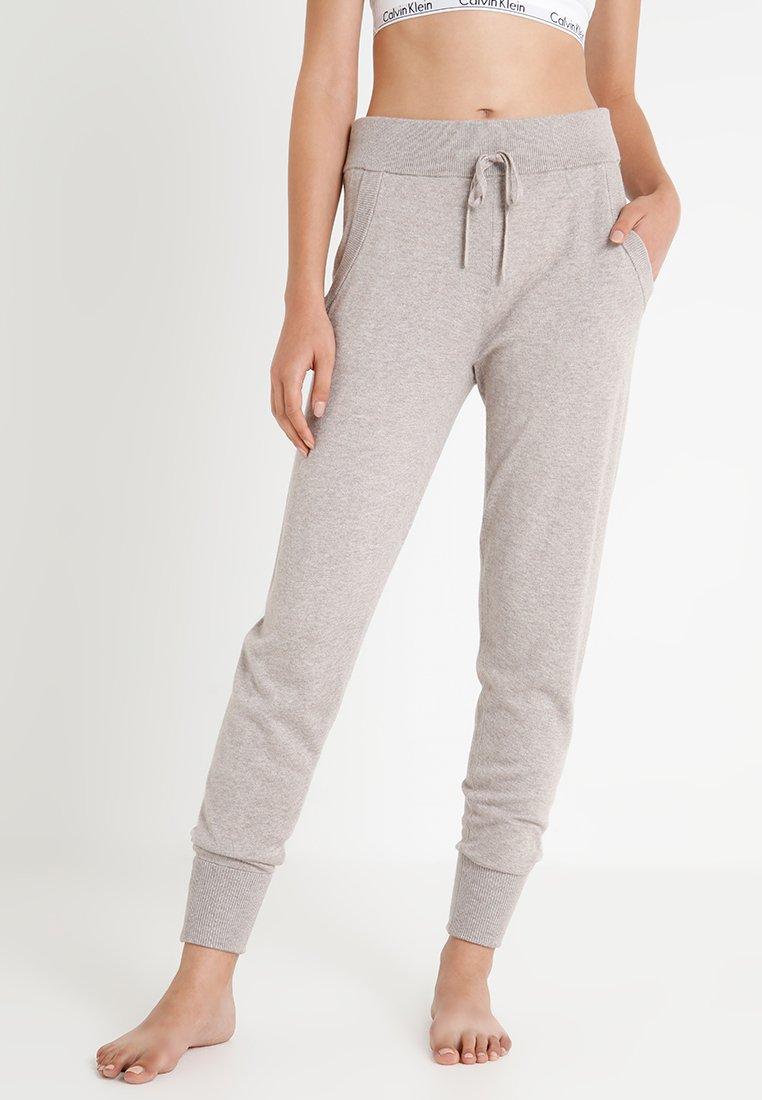 Calvin Klein Underwear - JOGGER - Pyžamový spodní díl - beige