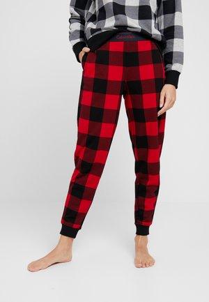 JOGGER - Pyjamasbukse - red/black